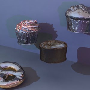 absurdly shiny food 3d render